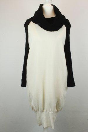 Karen Millen Kleid Strickkleid Gr. 4 / M weiß schwarz Rollkragen