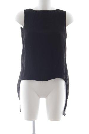 KAREN MILLEN Kurzarm-Bluse schwarz schlichter Stil