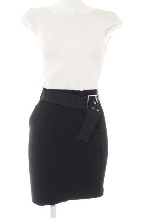 KAREN MILLEN Kurzarmkleid schwarz-wollweiß klassischer Stil