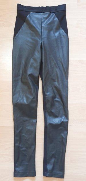 KAREN MILLEN Leather Trousers black