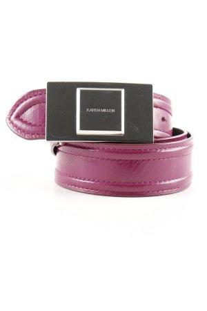 KAREN MILLEN Ledergürtel purpur-silberfarben schlichter Stil