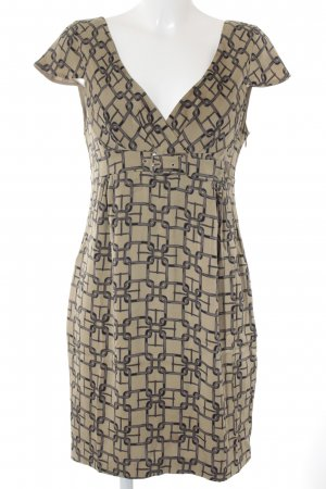 KAREN MILLEN Minikleid beige-dunkelgrau abstraktes Muster Party-Look