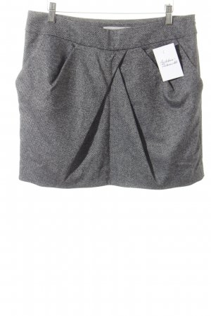 KAREN MILLEN Minirock schwarz-weiß meliert Elegant