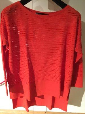 KAREN MILLEN Camisa tejida naranja neón-rojo claro