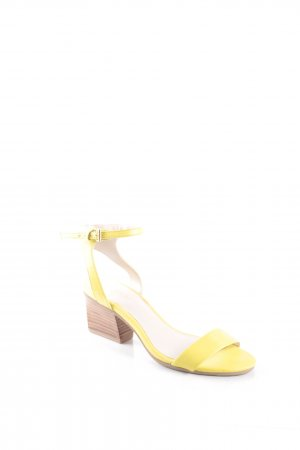 KAREN MILLEN Strapped High-Heeled Sandals yellow extravagant style