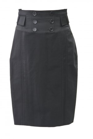 Karen Millen Rock in Schwarz aus Wolle