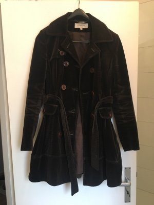 KAREN MILLEN Between-Seasons-Coat black brown-dark brown