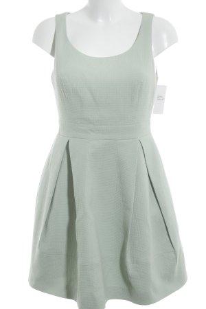 KAREN MILLEN schulterfreies Kleid graugrün Metallelemente