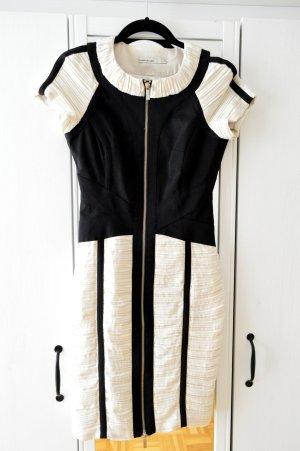 Karen Millen - Schwarz/Weißes Kleid mit Reißverschluss