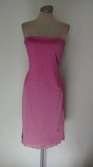 Karen Millen Seidenkleid Gr. UK 14 EUR 42 Rosa Spitze Bandeaukleid Kleid Seide