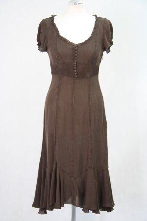 Karen Millen Seidenkleid in Braun