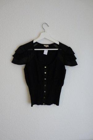 Karen Millen Shirt Bluse Oberteil S M 36 38 *NEU* schwarz Fashion Blogger Designer sexy cool