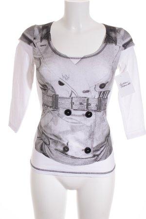 KAREN MILLEN Shirt weiß-grau Casual-Look