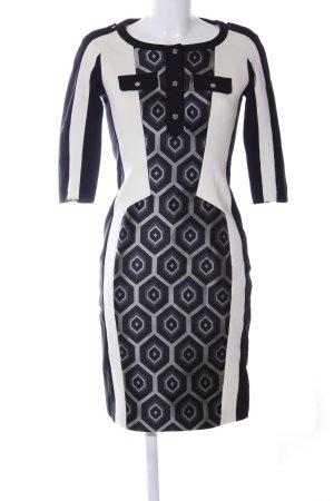 KAREN MILLEN Shirtkleid schwarz-weiß abstraktes Muster Business-Look