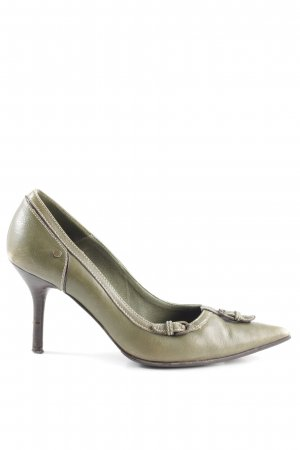 KAREN MILLEN Spitz-Pumps khaki Casual-Look