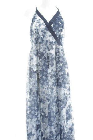 KAREN MILLEN Strandkleid dunkelblau-weiß florales Muster Casual-Look
