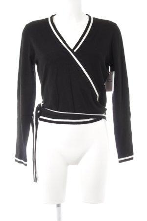 KAREN MILLEN Strickjacke schwarz-weiß Colourblocking Elegant
