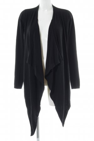KAREN MILLEN Knitted Wrap Cardigan black casual look
