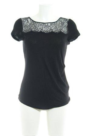 KAREN MILLEN T-Shirt schwarz Casual-Look