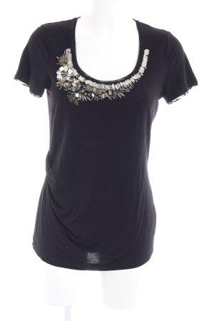 KAREN MILLEN T-Shirt schwarz Elegant
