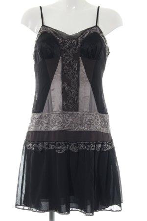 KAREN MILLEN Trägerkleid schwarz-hellgrau Elegant