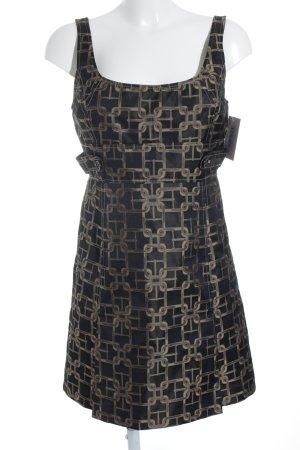 KAREN MILLEN Trägerkleid schwarz-beige abstraktes Muster extravaganter Stil
