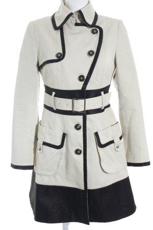 KAREN MILLEN Between-Seasons-Coat black-cream casual look