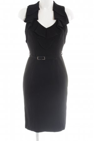 KAREN MILLEN Vestido estilo flounce negro elegante