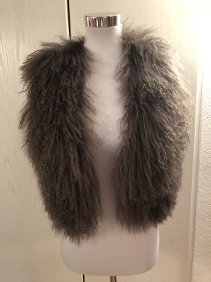 KAREN MILLEN Smanicato di pelliccia marrone-grigio Pelliccia