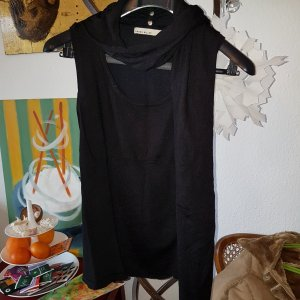 KAREN MILLEN Fine Knitted Cardigan black wool