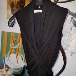 KAREN MILLEN Fine Knitted Cardigan black wool