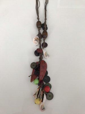 Karibik  Halskette aus naturholz und  Muscheln