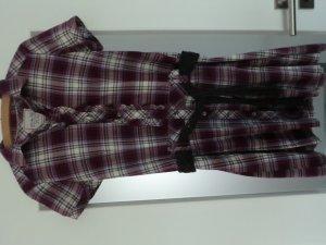 Karierstes Hemdkleid (kurzarm)
