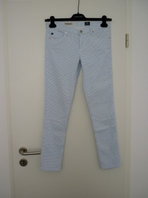 Karierte Adriano Goldschmied Jeans blau/weiß