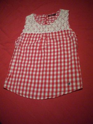 Alprausch Blusa sin mangas rojo-blanco