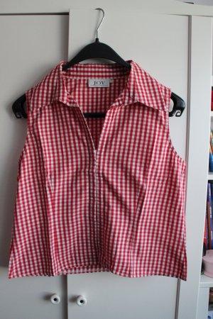 Karierte Ärmellose Hemd-Bluse