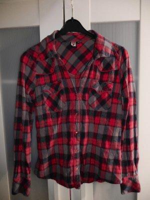 Karierte Blue Hemdbluse Hemd rot grau schwarz von Coolcat