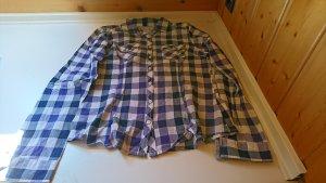 Madonna Geruite blouse wit-grijs