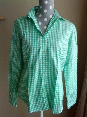 karierte Bluse von Brookshire * Gr. 40 * grün-weiß * TOP