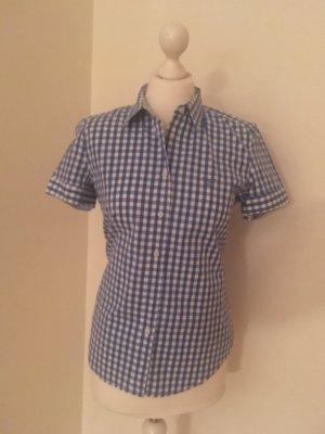 Gant Short Sleeved Blouse steel blue-white