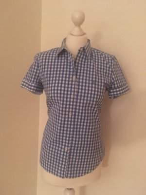 Gant Blusa de manga corta azul acero-blanco