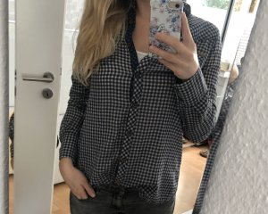 s.Oliver Camisa de manga larga blanco-azul oscuro