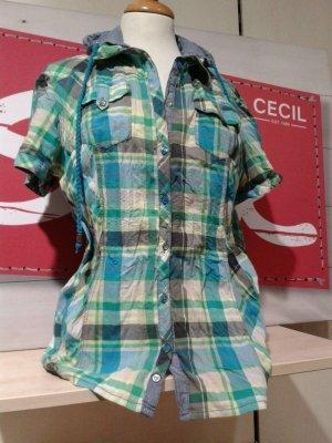 Karierte Damenbluse mit Kapuze von Cecil