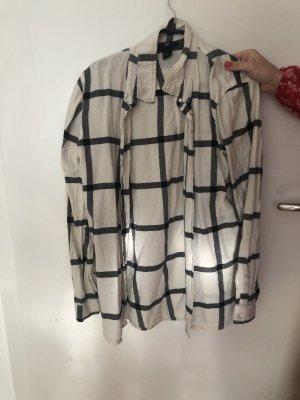 H&M Houthakkershemd wit-zwart