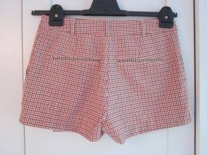 karierte High-Waist Shorts