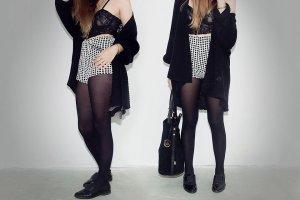 Karierte High-Waist-Shorts / Gummibund