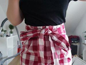 Asos Pantalone a vita alta bianco-rosso