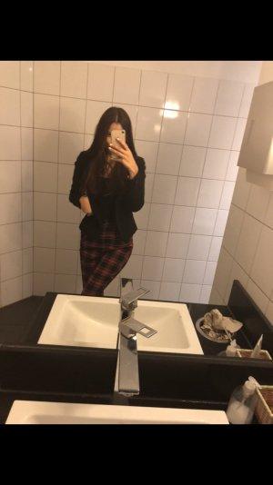 Bershka 3/4-broek zwart-roodbruin