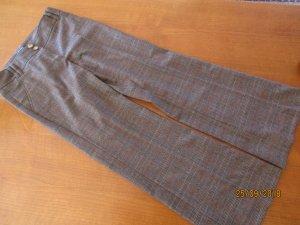 Hallhuber Pantalon à pinces brun-rouge foncé