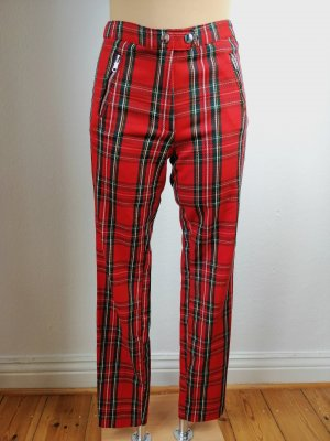 H&M Drainpipe Trousers black-red